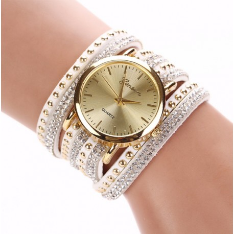 Crystal Watch Rivet Bracelet