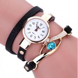 Duoya Brand Luxury Watches Quartz Women Gold Bracelet.