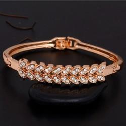 Yellow Gold Clear Austrian Crystal Bracelet