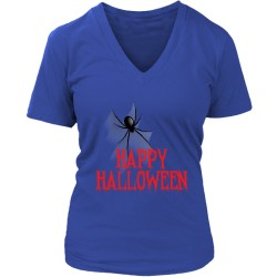 Happy Halloween District Womens V-Neck T-Shirt