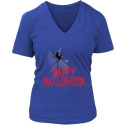 Happy Halloween District Womens V-Neck T-Shirt