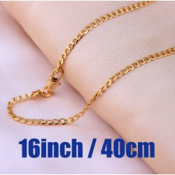 Gold plated chains necklace for men.
